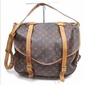Auth Louis Vuitton Saumur 43 Crossbody Bag